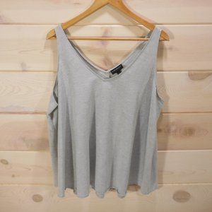 Lane Bryant Women's Sz 18 Sleeveless Top Gray